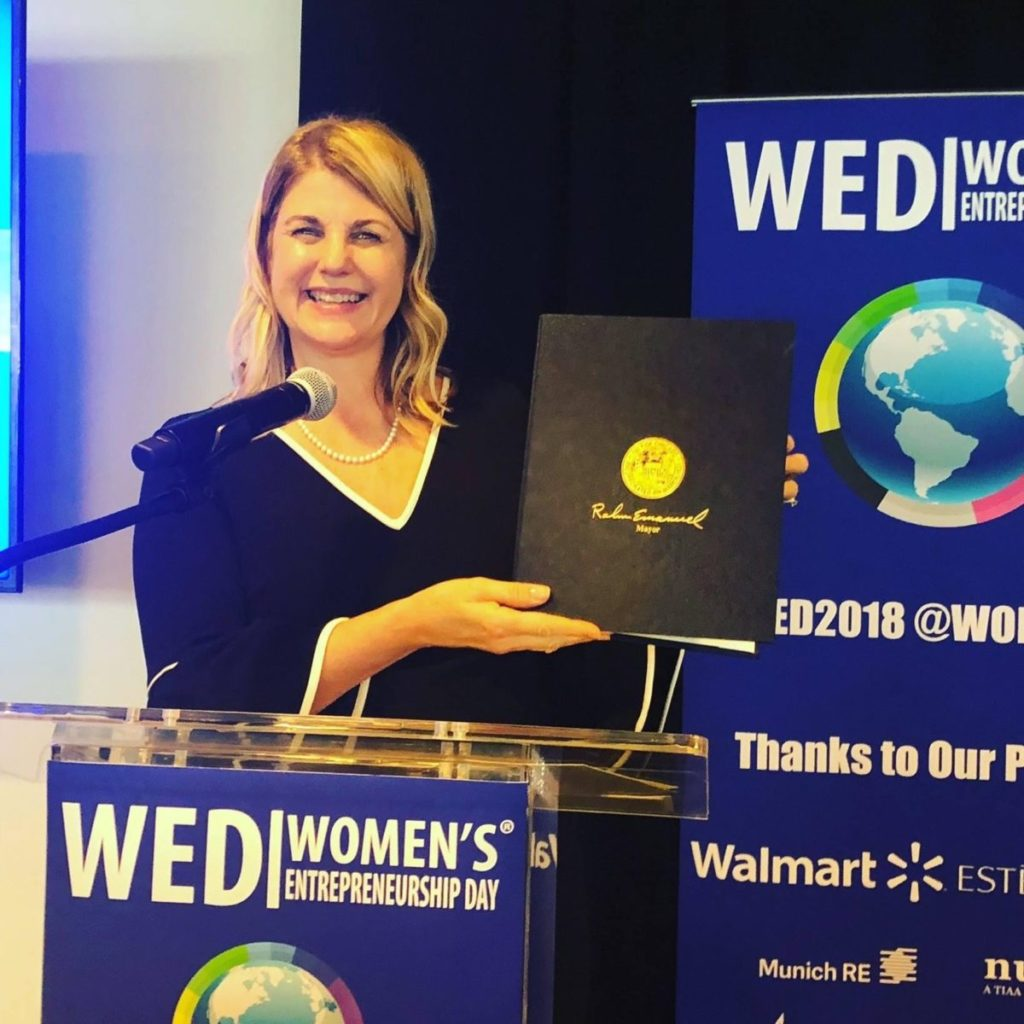 Celebrating Women's Entrepreneurship Day at the United Nations in 2018.